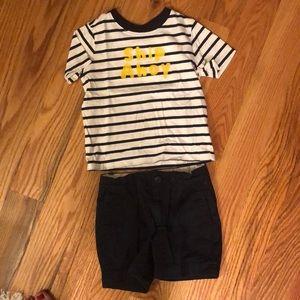 Janie & jack toddler boy shirt + crew cuts shorts